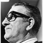 Imaxe do poeta tomada en Madrid nos anos 70.