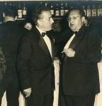 Con Xosé María Álvarez Blázquez nas Festas da Peregrina de 1958 (Foto Rodríguez, Pontevedra).