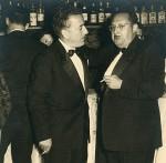 Con Xosé María Álvarez Blázquez en las Festas da Peregrina de 1958 (Foto Rodríguez, Pontevedra).