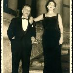 La pareja en una fiesta del Casino de Vigo (Foto Ramón, Vigo).