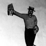 Felicitación de Aninovo coa efixie do propio Celso Emilio. Vigo, 1958.