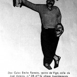 Greeting Card of New Year with the effigy of Celso Emilio. Vigo, 1958.