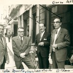Baldomero Fernández and Celso Emilio, second from the left, with other friends. They were photographed by Eduardo Blanco Amor in Ourense.