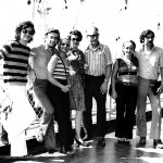 The family Ferreiro in their farewell of Venezuela. La Guaira, May 5, 1973.