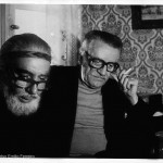 Celso Emilio in his home of Madrid with Ernesto Cardenal. The nicaraguan poet stayed in Ferreiro´s house in 1977 when he came to give conferences.