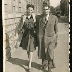 Celso Emilio e Moraima, de noivos. Xixón, maio de 1943 (Foto Unifa, Xixón).