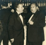 With Xosé María Álvarez Blázquez in the 1958's Festas da Peregrina. (Photo Rodríguez, Pontevedra).