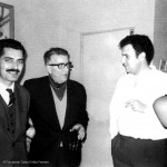 Celso Emilio, in the center, in the early 60's with Manuel María and Xosé Luis Méndez Ferrin. All three writers, along with others, founded in 1964 the Union do Pobo Galego (UPG).