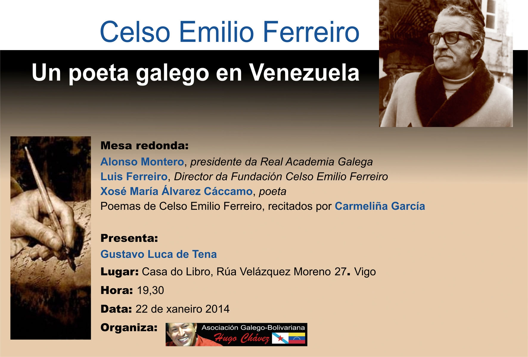 Asociación Galego- Bolivariana de Vigo,Lembrando a Celso Emilio