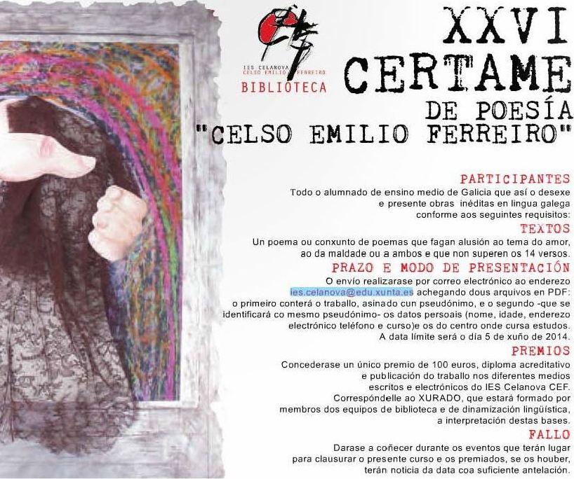 XXVI Certame de Poesía Celso Emilio Ferreiro1